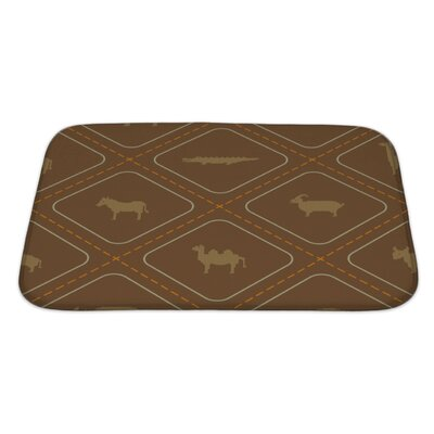 Animals Wild Animals Bath Rug Size: Large