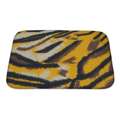 Animals Tiger Bath Rug Size: Small