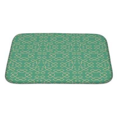 Creek Abstract Geometrical Bath Rug Size: Large