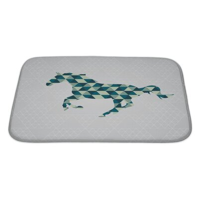 Animals Horse Pattern Bath Rug Size: Large