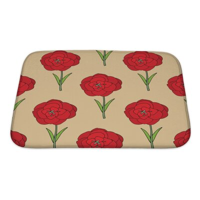 Flowers Seamles Floral with Flowers Bath Rug Size: Small