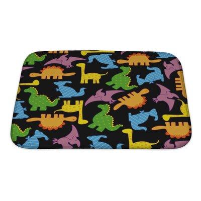 Dinosaurs Dinosaur Pattern Bath Rug Size: Small