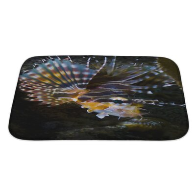 Fish Poisonous Lionfish In the Similan Islands Bath Rug Size: Large