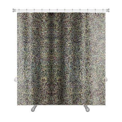 Gecko Colored Grunge Vintage Wallpaper Premium Shower Curtain