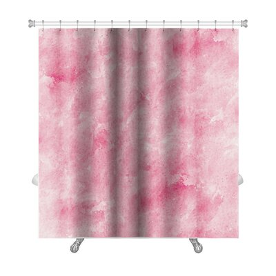Art Primo Abstract Watercolor Impressionism Style Premium Shower Curtain