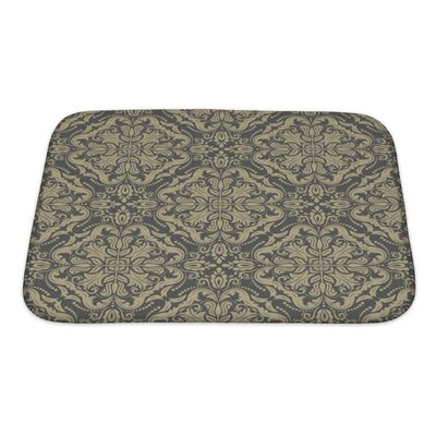 Primo Damask Pattern Fine Traditional Ornament with Oriental Elements Bath Rug Size: Small
