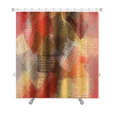 Art Beta Abstract Ink Lines Impressionist Premium Shower Curtain