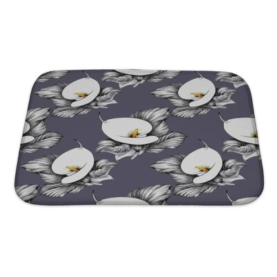 Flowers Calla Lilly Floral Bath Rug Size: Small, Color: Purple