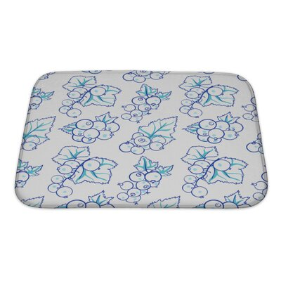 Delta Currant in Doodle Style Bath Rug Size: Small