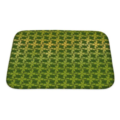 Simple Ornament of Stylized Leaf Clover Bath Rug Size: Small