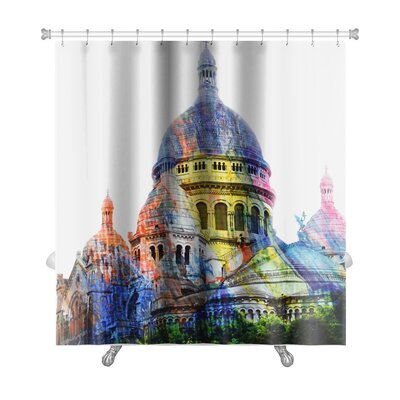 Art Hard Basilica of the Sacred Heof Motmartre Premium Shower Curtain