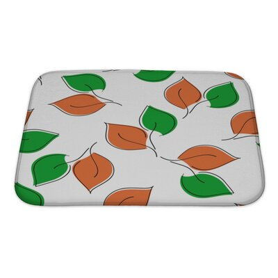 Leaves Leaf Bath Rug Size: Small