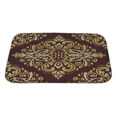 Delta Damask Ornament Fine Traditional Oriental Pattern Bath Rug Size: Large