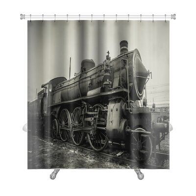 Vintage Old Train Photo Premium Shower Curtain