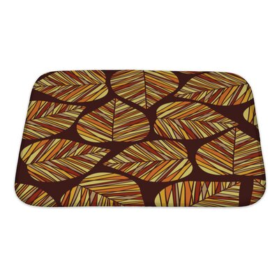 Leaves Autumn Bath Rug Size: Small