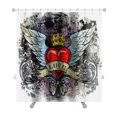 Danger Hewith Wings Premium Shower Curtain