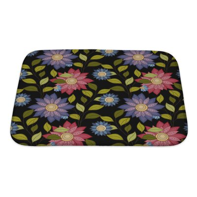Flowers Decorative Flowers Bath Rug Size: Small