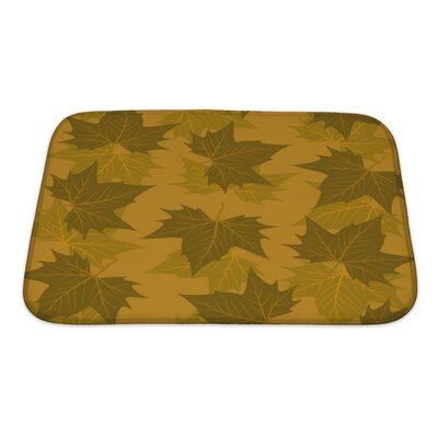 Leaves Maple Leaf Pattern Bath Rug Size: Small