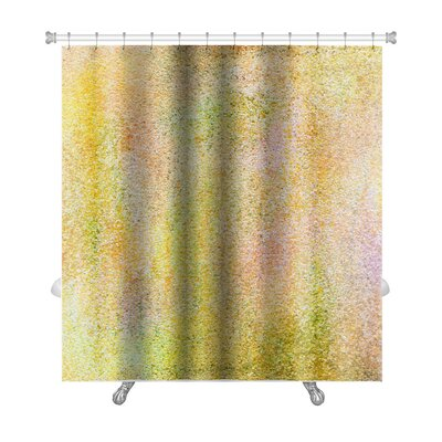Art Primo Grain Abstract Acrylic Hand Painted Premium Shower Curtain