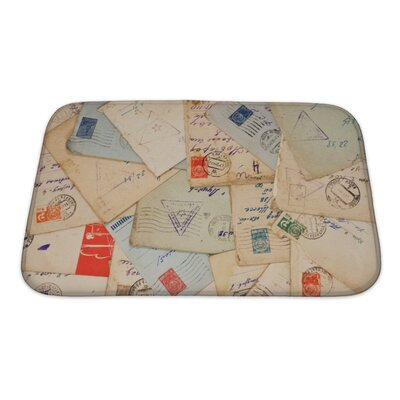 Vintage Old Envelopes Bath Rug Size: Small