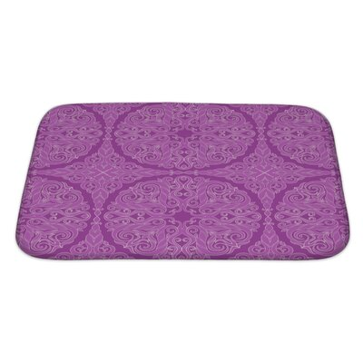 Cappa Retro Leaf on a Background Bath Rug Size: Large