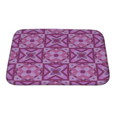 Creek Geometric Floral Pattern Bath Rug Size: Small