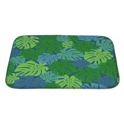 Leaves with Leaves Bath Rug Size: Large