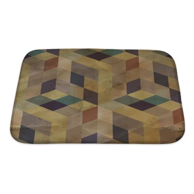 Delta Vintage Geometric Bath Rug Color: Sand/Brown/Green, Size: Small