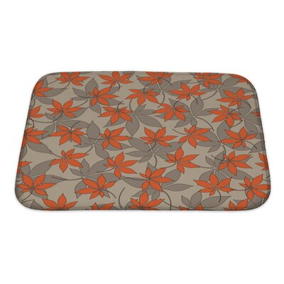 Charlie Stylization Autumn Leaves Vintage Pattern Bath Rug Size: Small