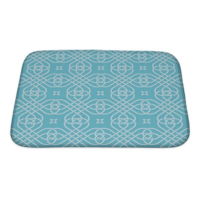 Simple Medieval Style Geometric Bath Rug Size: Small