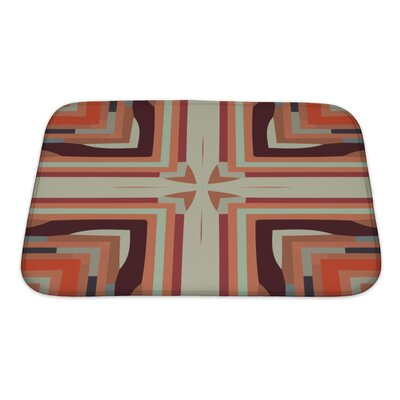 Creek Ethnic Colorful Geometrical Ornaments Bath Rug Size: Small
