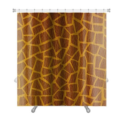 Simple Giraffe Leather Premium Shower Curtain