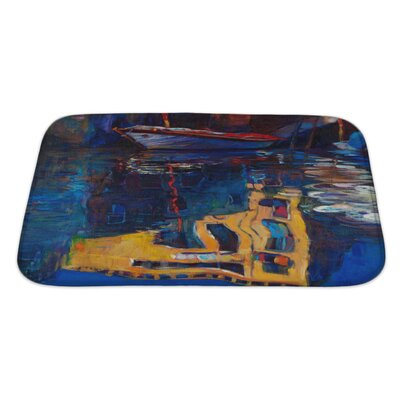 Art Beta Venice Boat and Building Reflection Bath Rug Size: Large