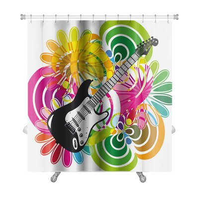 Instruments Electric Guitar Premium Shower Curtain