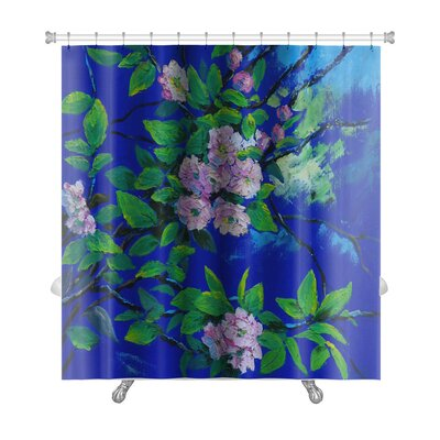 Flowers Oil Painting of Spring Flowers on Canvas Premium Shower Curtain