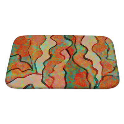 Primo Abstract Funny Watercolor Bath Rug Size: Large