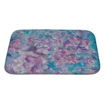 Art Primo Abstract Watercolor Flower in Impressionism Style Bath Rug Size: Large