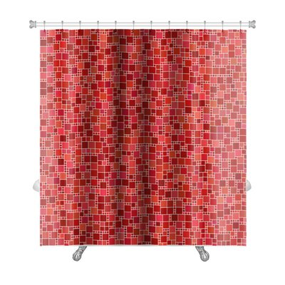 Kilo Square Mosaic Pattern Premium Shower Curtain
