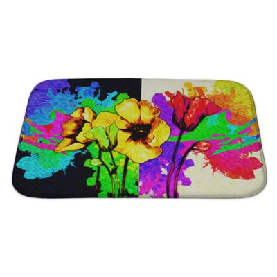 Flowers Digital Painting Bath Rug Size: Large