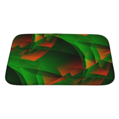 Beta Fiery Transcendental Expressionistic Art Bath Rug Size: Large