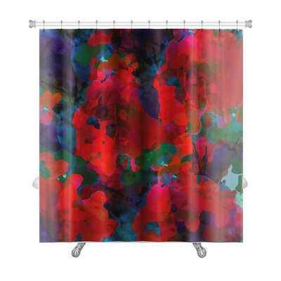 Art Alpha Floral Watercolor Abstract Premium Shower Curtain