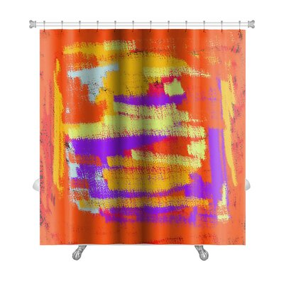Art Touch Bright Abstract Color for Premium Shower Curtain