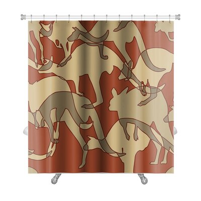 Animals Kangaroo Repeating Premium Shower Curtain