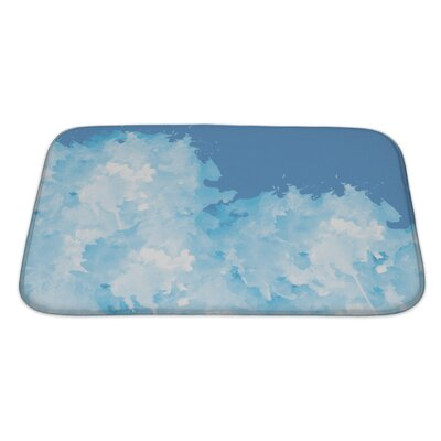 Slide Abstract Watercolor Flower Bath Rug Size: Large