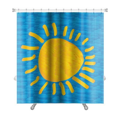 Art Soft the Sun Sky in the Style of Impressionism Premium Shower Curtain