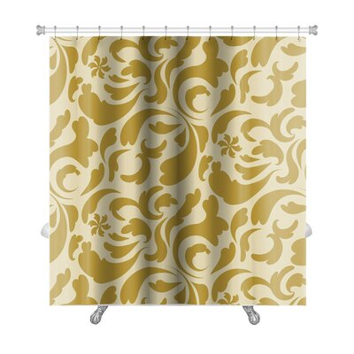 Kilo Leaf Pattern in Old Style Technique Premium Shower Curtain