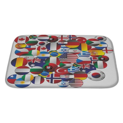 Earth Random Editable Graphic Bath Rug Size: Large