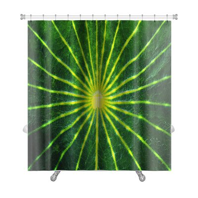 Gamma Close-Up Lotus Leaf Premium Shower Curtain