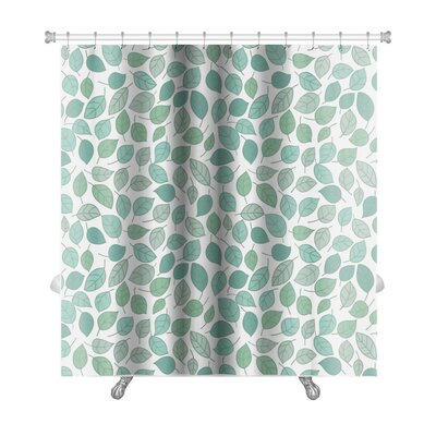 Leaves Stylized Leaf Premium Shower Curtain
