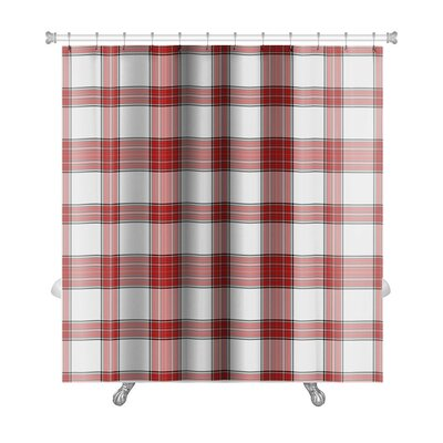 Red plaid shower